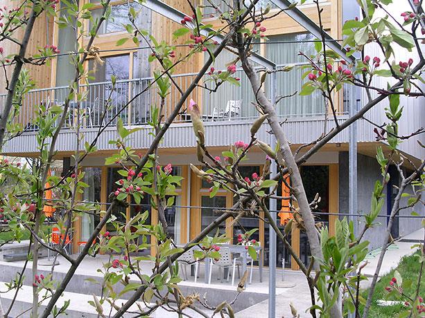 Sitzplatz beim privaten Garten Anderegg / Marugg